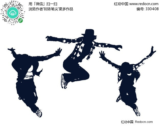 经典舞蹈动作剪影