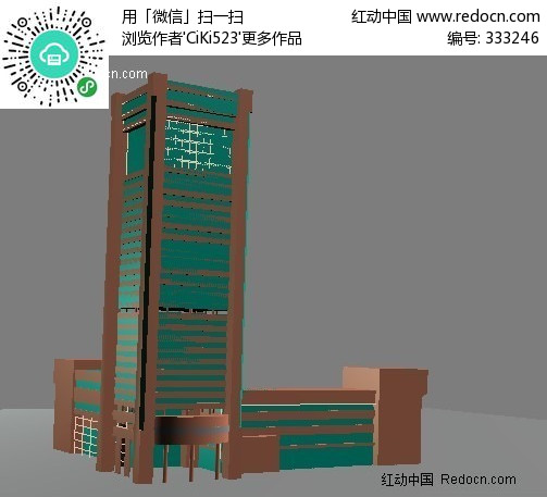 大楼建筑 3D模型下载 3D模型素材库下载 3d模型免费下载 编号
