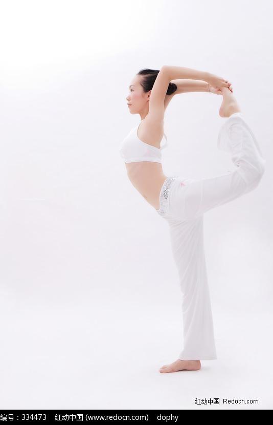 练瑜伽舞王式的美女图片编号:334473