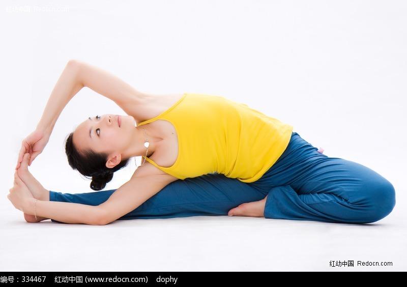 美女练瑜伽单腿侧伸展式高清图片图片-人物图