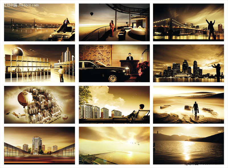 房地产商业配图模板下载-房地产广告图片素材下载-单