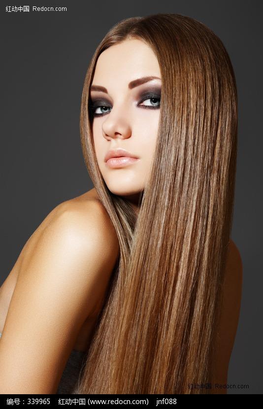 长发发型模特美女图片编号:339965