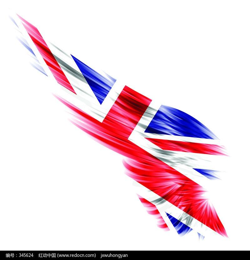 英国国旗变形的翅膀图片(编号:345624)