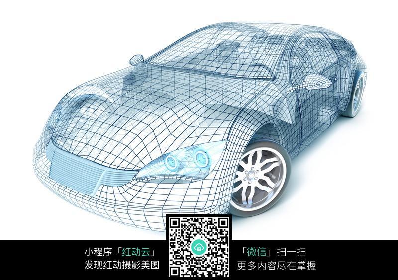 立体线条汽车模型