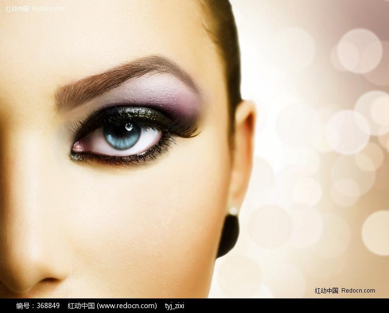 魅惑诱惑性感神秘眼睛眼神眼部化妆眼影外国美女美女