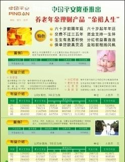 关键词:保险宣传彩页中国平安保