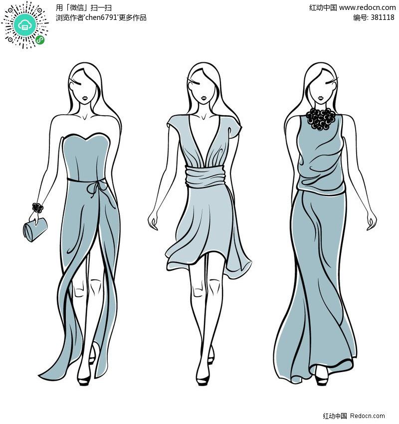 q版   动漫手绘图   - 已解决   线稿   手绘时装模特
