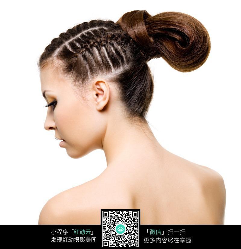 盘发的美女图片 人物图片素材|图片库|图库下载
