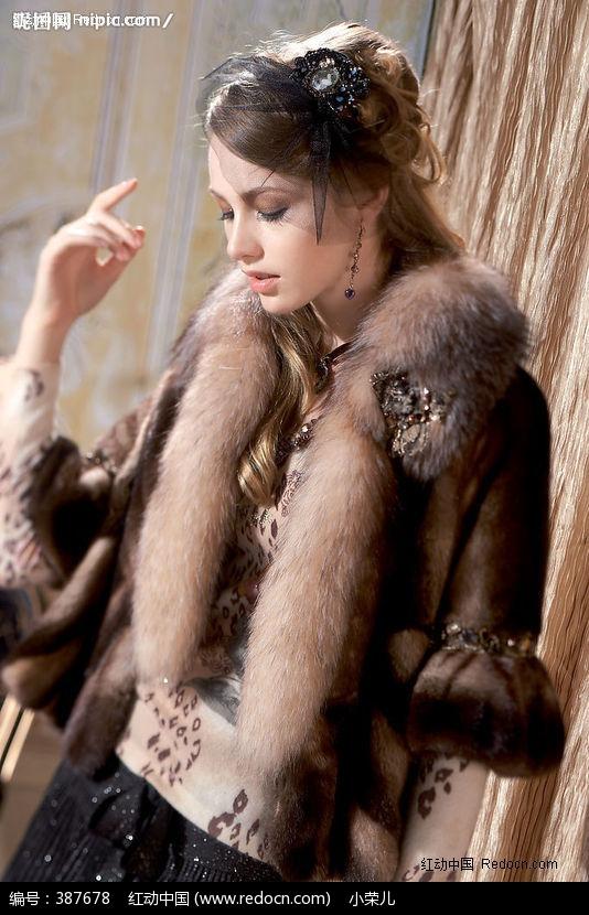 欧美皮草模特美女设计下载编号:387678