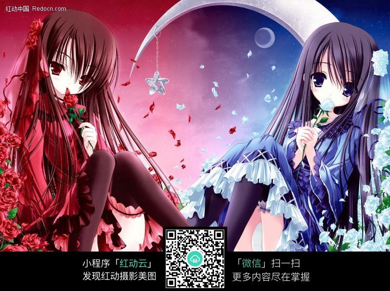红蓝两色搭配图片编号:388926 人物卡通