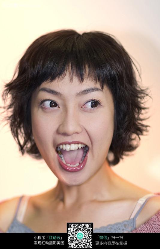张嘴的女人图片编号:390519