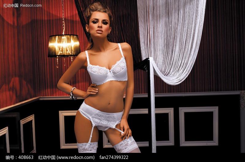 穿白色内衣的美女图片编号:408663