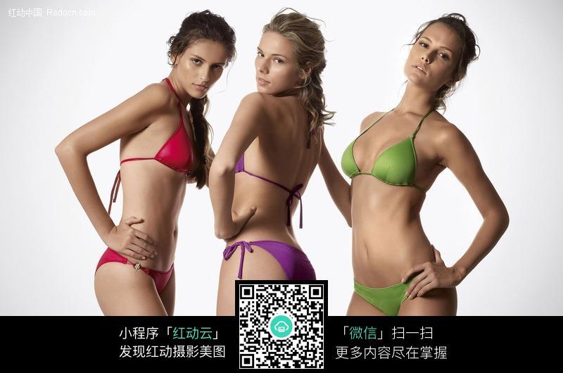 三个外国比基尼模特图片编号:408653 女性女