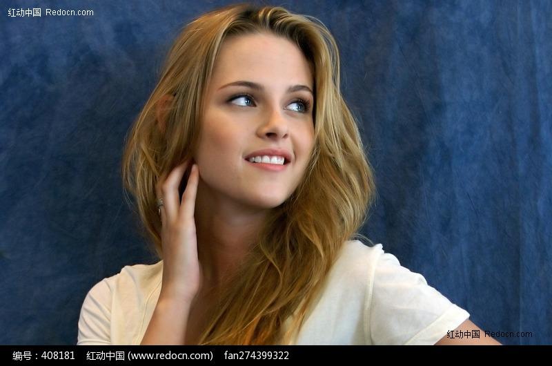 侧脸微笑的外国美女图片编号:408181 女性女