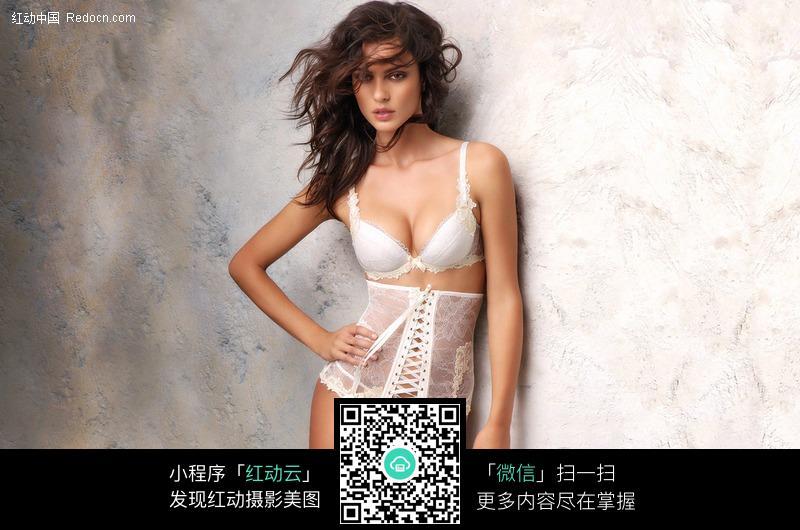 性感白色内衣美女图片 人物图片素材|图片库|图库