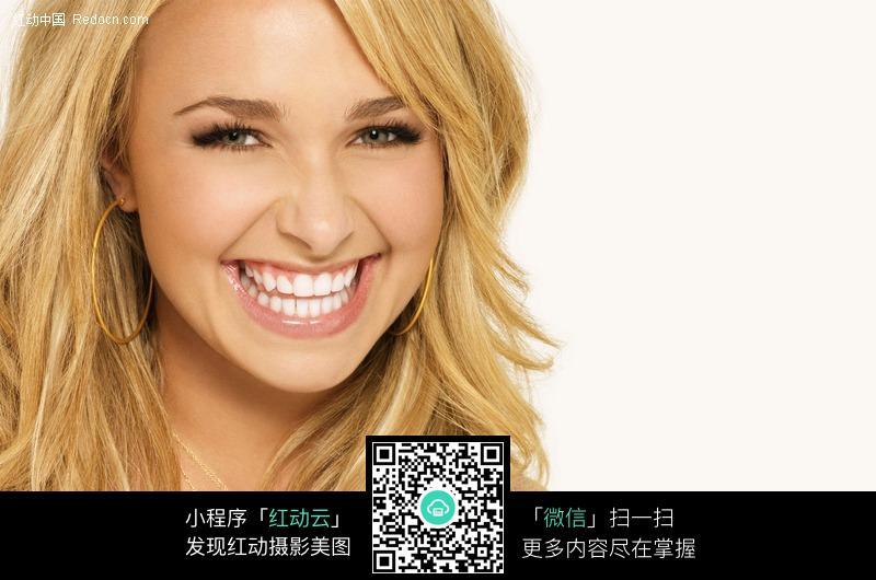 欢笑的金发美女图片 人物图片素材|图片库|图库下载