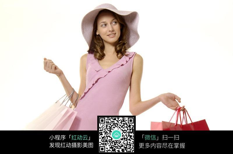 拿购物袋的外国美女图片 人物图片素材|图片库|图库