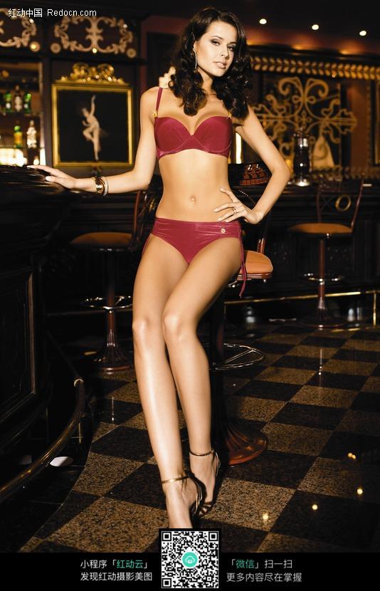 欧美美女比基尼美女美女模特文胸魔鬼身材诱惑模特