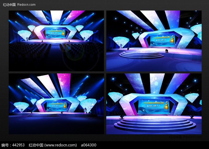 cctv年度颁奖盛典舞台3d模型设计模板下载(编号:)--3