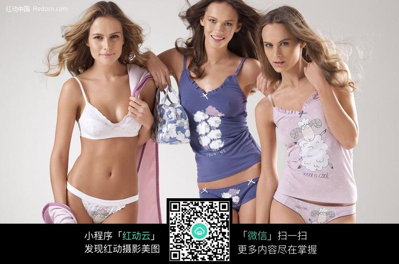 三个内衣美女图片 人物图片素材|图片库|图库下