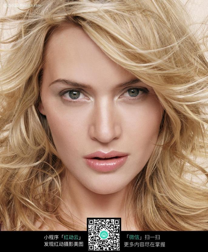 金发飞扬的外国美女图片 人物图片素材|图片库|图库