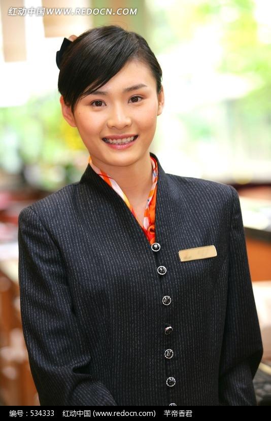 关键词:微笑女经理接待员服务员美女