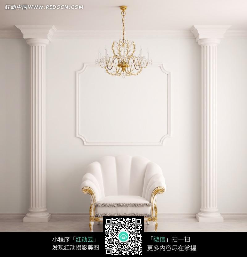 欧式风格的白色皮沙发图片(编号:536423)图片