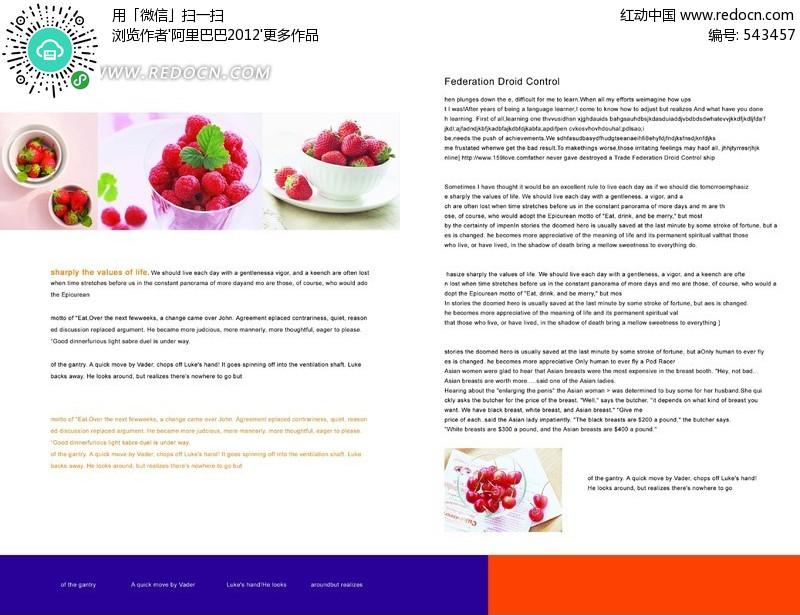 英文美食画册设计模板PSD编号素材(分层:543的魂牵梦绕美食图片