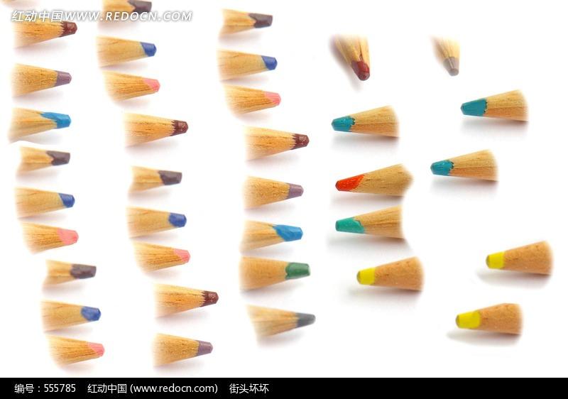 彩色铅笔笔尖特写图片 生活用品 日常生活图片