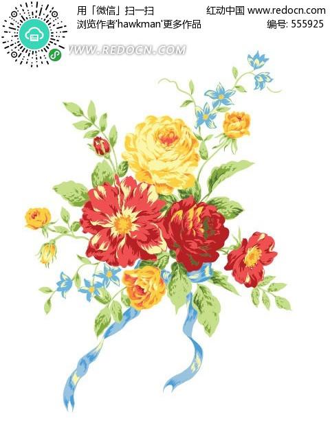 花卉简笔画 - 花卉 - 皮蓬儿童简笔画 风景简笔画 植物黑白格子背景