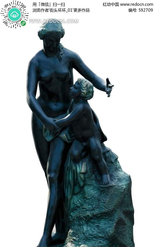母女青铜像正面图像设计图片