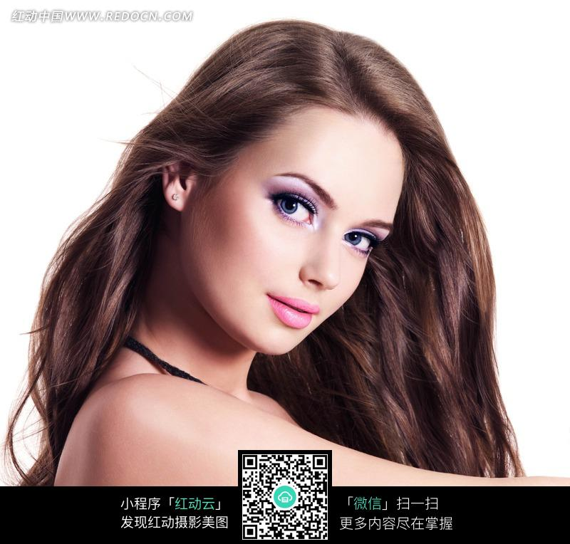 外国性感长发美女图片