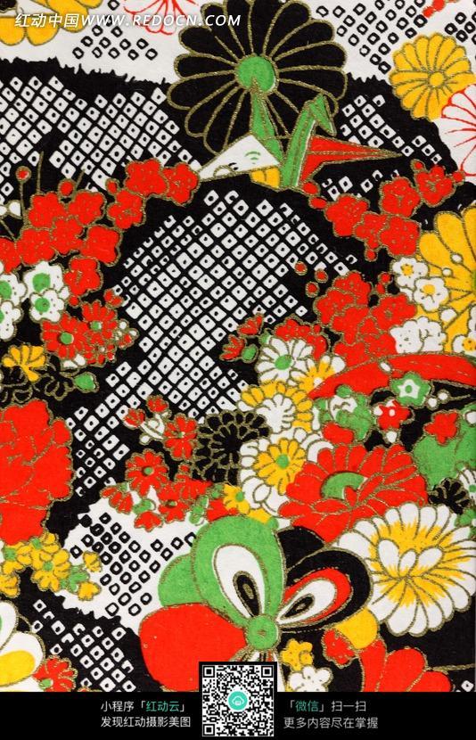 中国传统刺绣花图图片