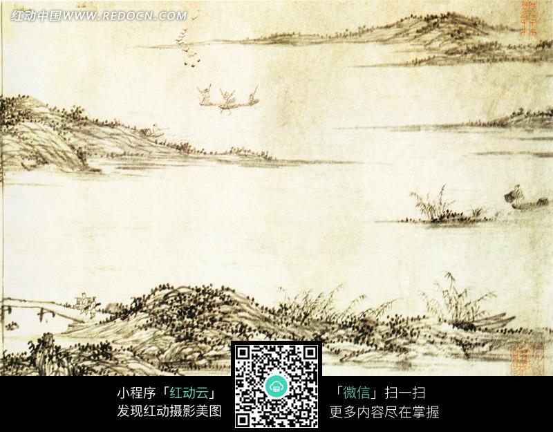 中国传世名画 湖山书屋图图片 传统书画 吉祥图案 艺术图...