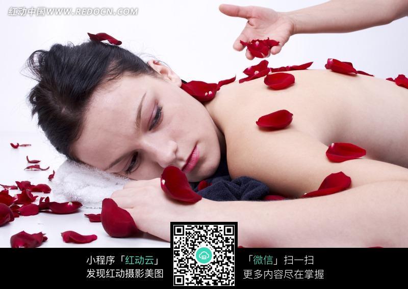 spa美女花瓣图图片 人物图片素材|图片库|图库下载
