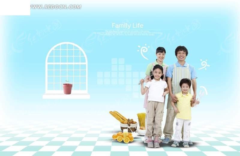 幸福家庭背景图片_幸福家庭源文件__PSD分层素材_PSD分层素材