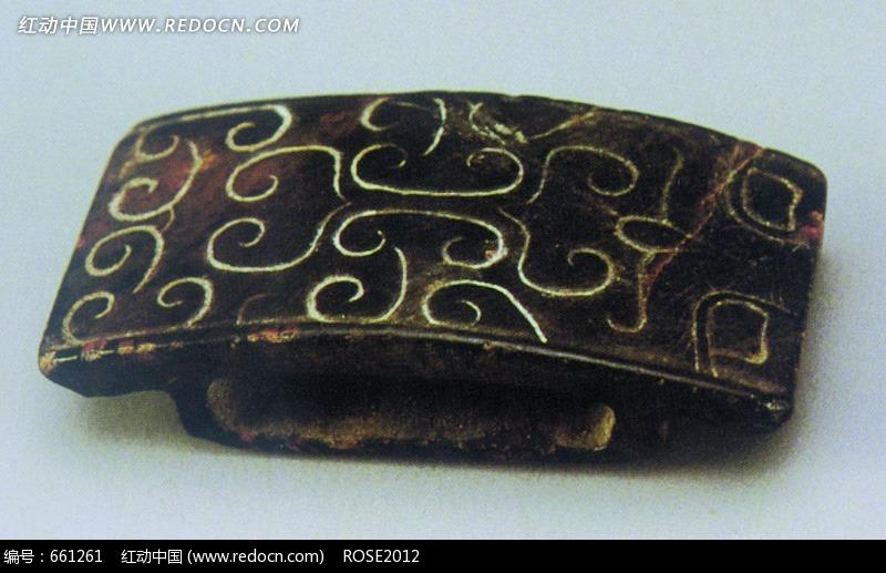 黑色的花纹玉器设计图片