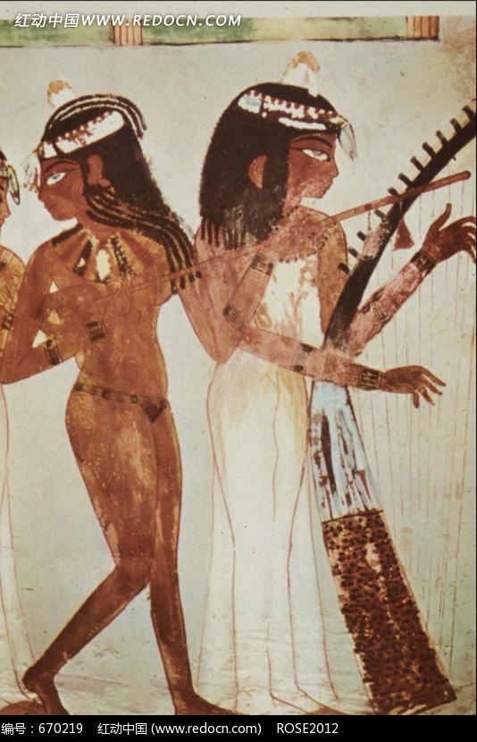 埃及壁画图片 传统书画 吉祥图案 艺术图片下载 670219