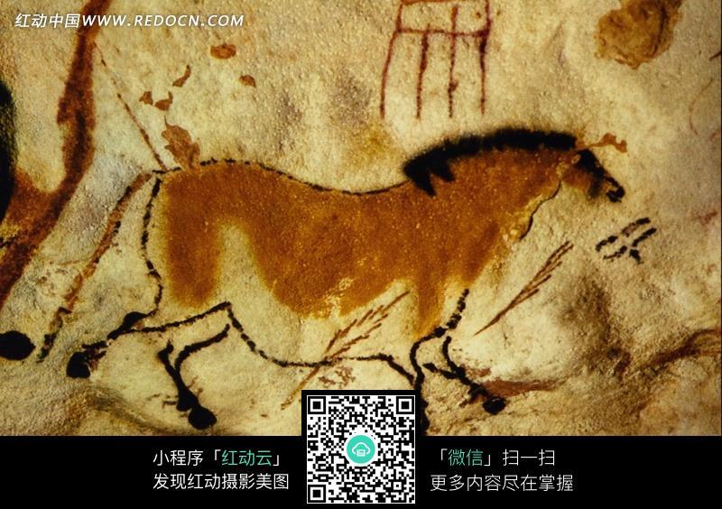 古代壁画 红色骏马图片 编号 670107 书画文字 文化艺术