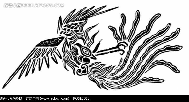 凤凰纹饰素材图片-传统书画|吉祥图案|艺术图片下载图片