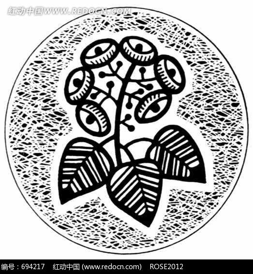 画_黑白装饰画风景_黑白装饰画动物_海底世界黑白  装饰花卉的变形