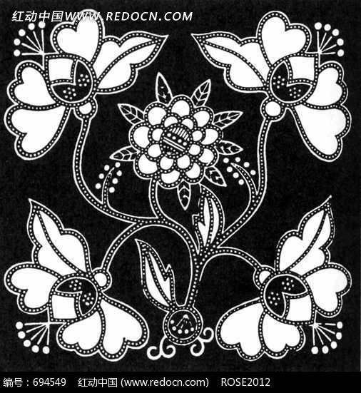 花朵 花蕊 叶子拼成的方形图案图片