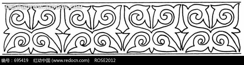 图案纹样 二方连续纹样 四方连续花纹图片素材_图