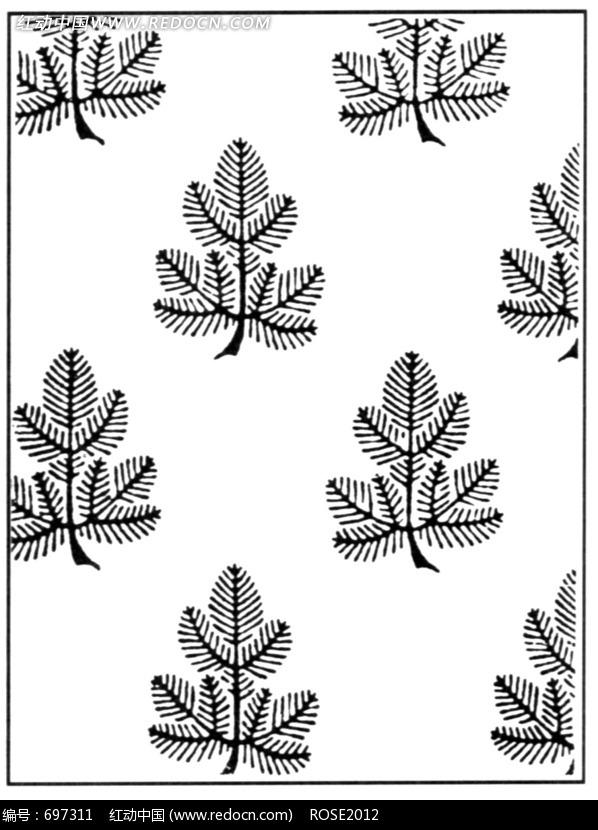下载《规律排列的植物图案素材》[免费图片]-规律排列的植物图案素材