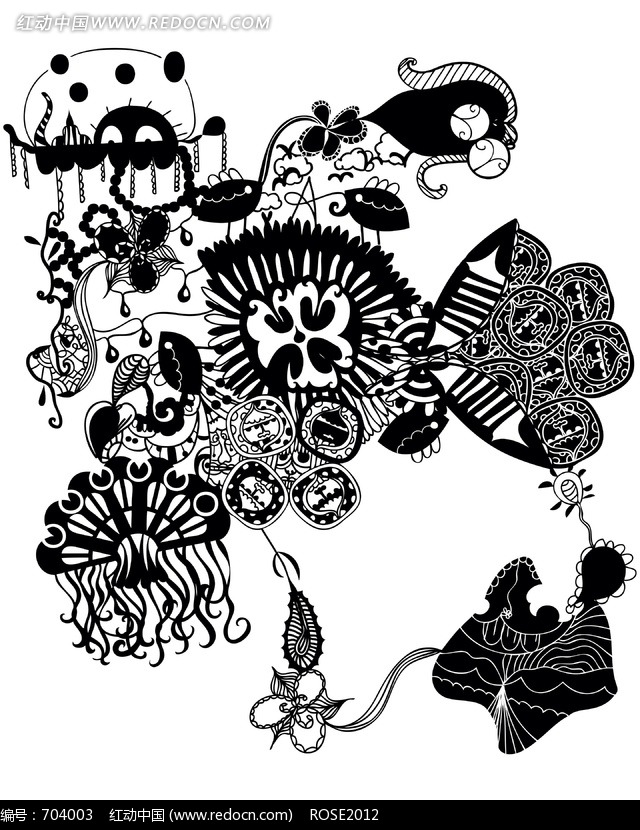 关于植物的黑白装饰画内容|关于植物的黑白装饰画图片