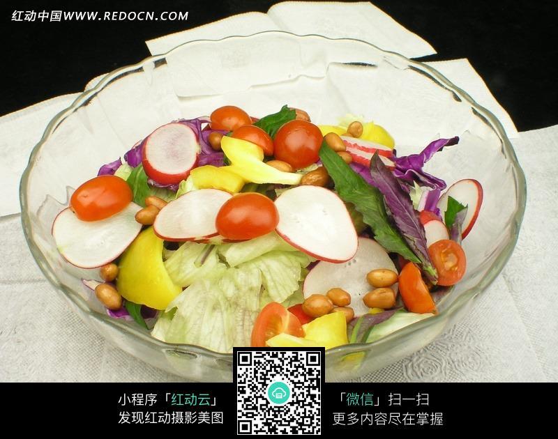玻璃碗大拌菜设计图片