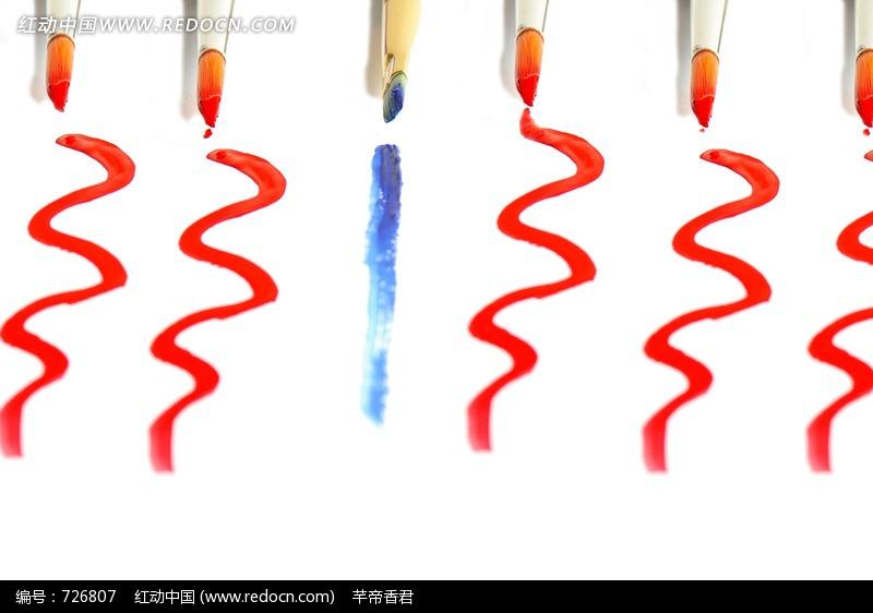 反差物件图片 创意概念图 曲线 直线 颜色,创意概念,反差物件