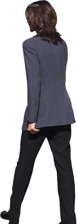 一个正在走路的女人的背影设计图片