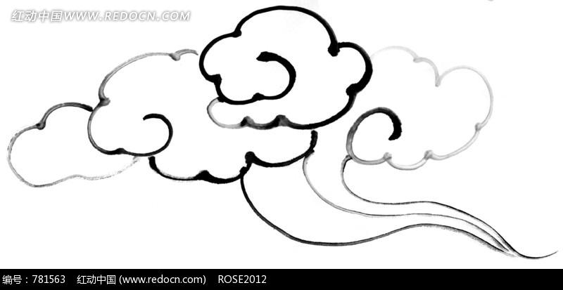 造型奇异的云朵简笔画图片 781563
