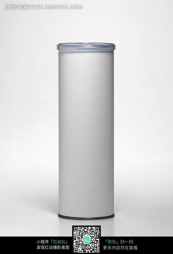 白色圆柱形的食品包装盒图片
